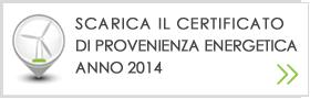scarica il certificato di provenienza energetica anno 2014